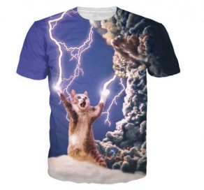Thunder Cat T-Shirt Men Rave Edm Outfits Clothing Festival Wear