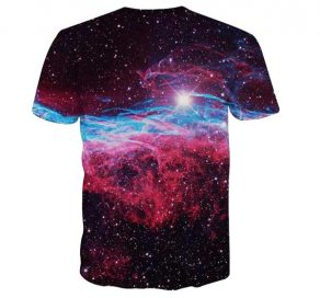 Space Nebula Taco Pizza Cat Licking T-Shirt back Men Rave Edm Outfits Clothing Festival Wear