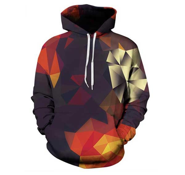 Abstract Autumn Hoodie