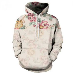Retro Colorful Roses Hoodie Front Men Rave Edm Outfits Clothing Festival Wear