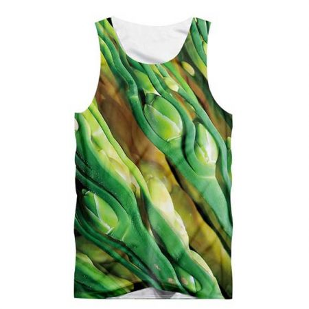 Closed Rose Bud Tank Top Front Men Rave Edm Outfits Clothing Festival Wear