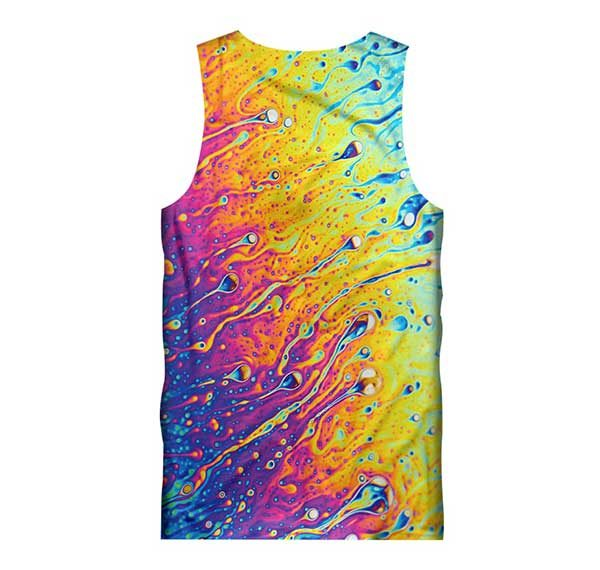 Melted Colors Tank Top Back Men Rave Edm Outfits Clothing Festival Wear