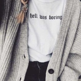 Hell Was Boring T-Shirt product image