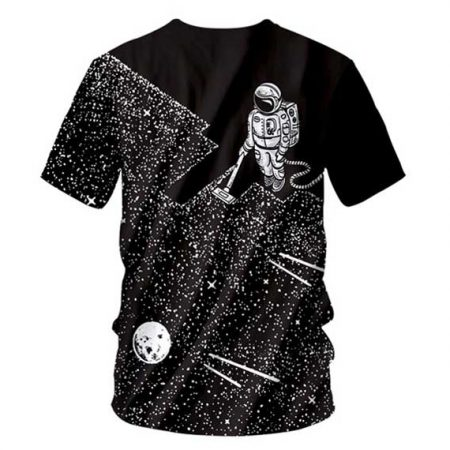 Space Astronaut T-Shirt Men Rave Edm Outfits Clothing Festival Wear