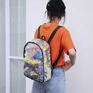 Candy Transparent Backpack Women Rave Edm Outfits Clothing Festival Wear 2