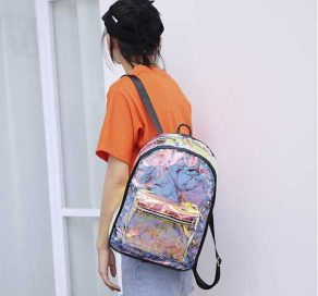 Candy Transparent Backpack Women Rave Edm Outfits Clothing Festival Wear