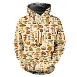 Mushroom Hoodie Men Rave Edm Outfits Clothing Festival Wear