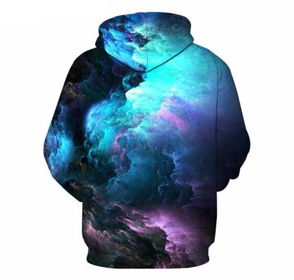 Space Ambient Hoodie Back Men Rave Edm Outfits Clothing Festival Wear