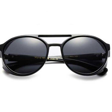 Black Steampunk Retro Sunglasses