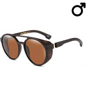Brown Steampunk Retro Sunglasses