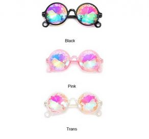 Color Selection Round Kaleidoscope Sunglasses
