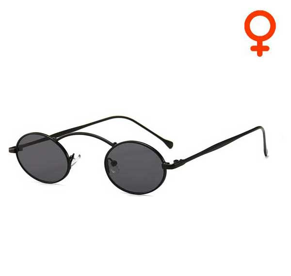 Black Vampire Oval Sunglasses