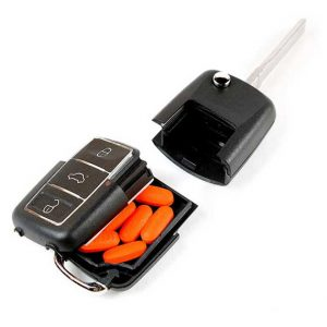 Car Key Remote Secret Stash Stash Box Safe Container Key Chain Profile