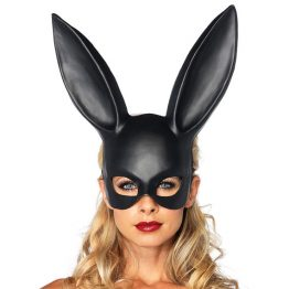 Rabbit Long Ears Wet Look Mask Bunny Cosplay Rave Clothing Edm Outfits Festival Party Wear