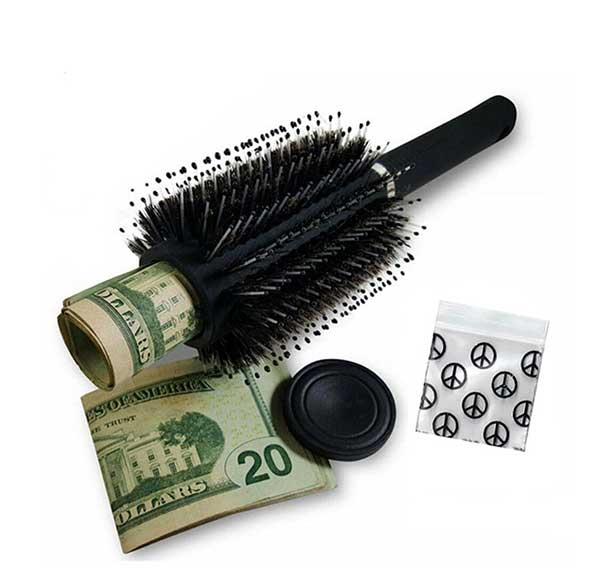 Hair Brush Secret Stash For Drugs Hidden Container For Pills Safe Can Size Info Rave Edm Accessories