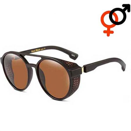 Brown Steampunk Retro Sunglasses Unisex